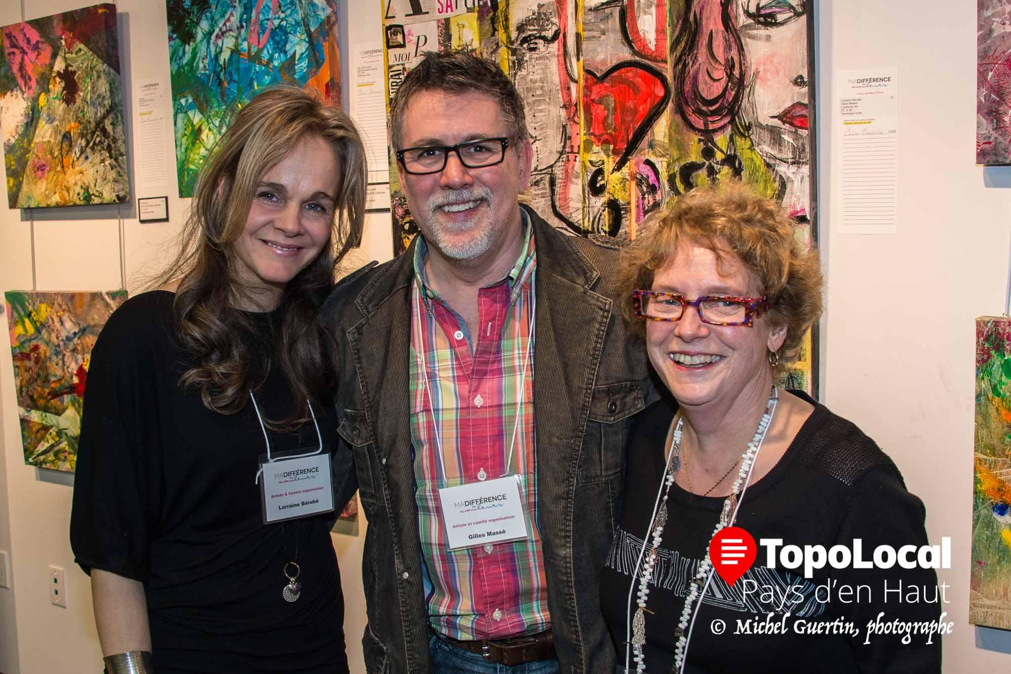 Lorraine Bérubé, Gilles Massé et Nicole Lebrun se sont occupé des ateliers d'art collectif, ce qui a donné un superbe résultat.