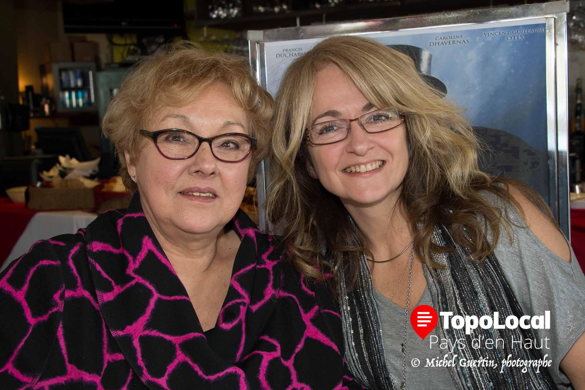 L'accueil au restaurant Spago était assuré par Isabelle Thomas et Josée Riopel.