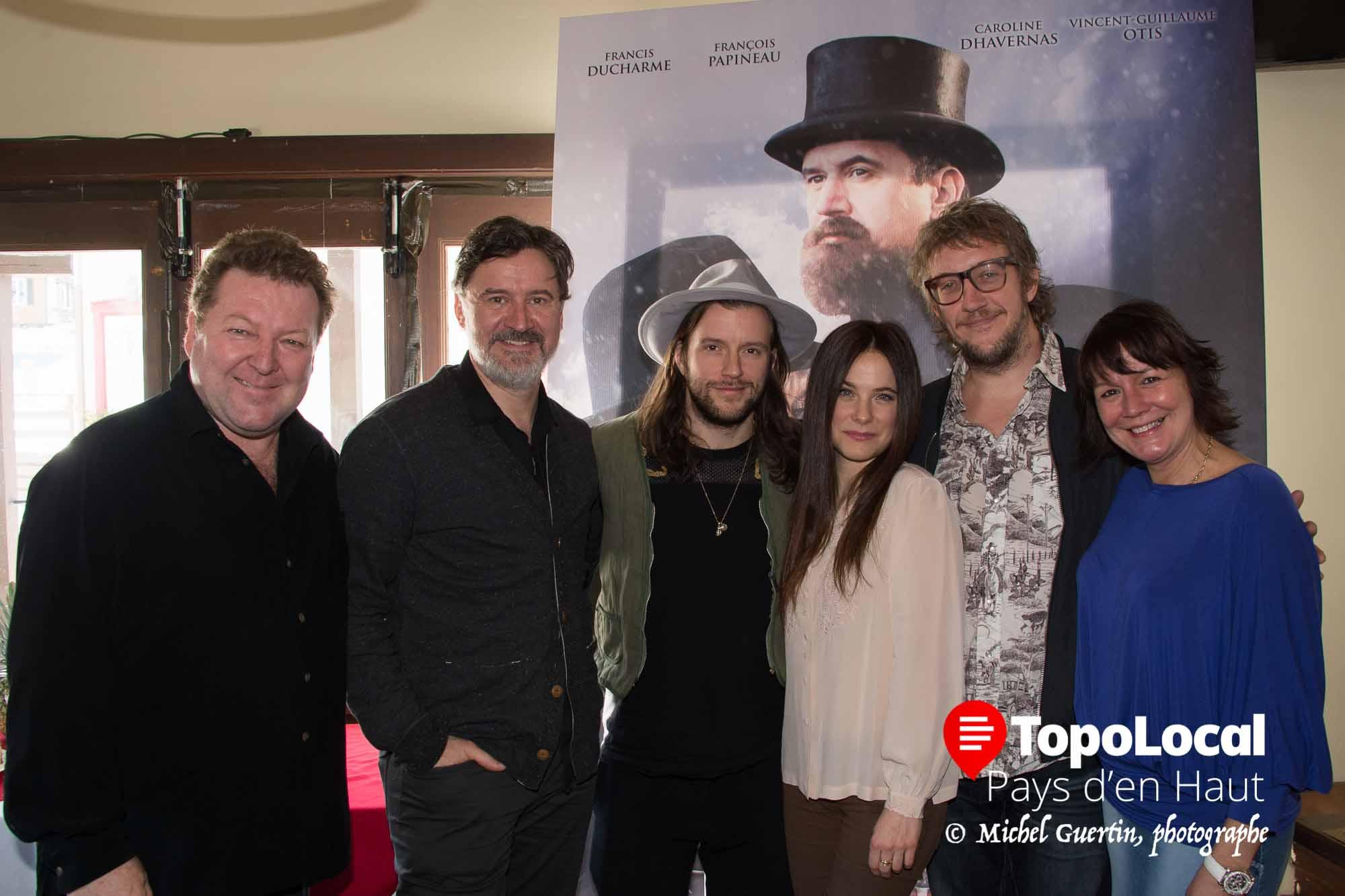 Les deux co-propriétaires du restaurant Spago, Louis Desjardins et Angela Klein, étaient heureux de recevoir les comédiens et le réalisateur de Chasse-Galerie, le dimanche 21 février 2016.