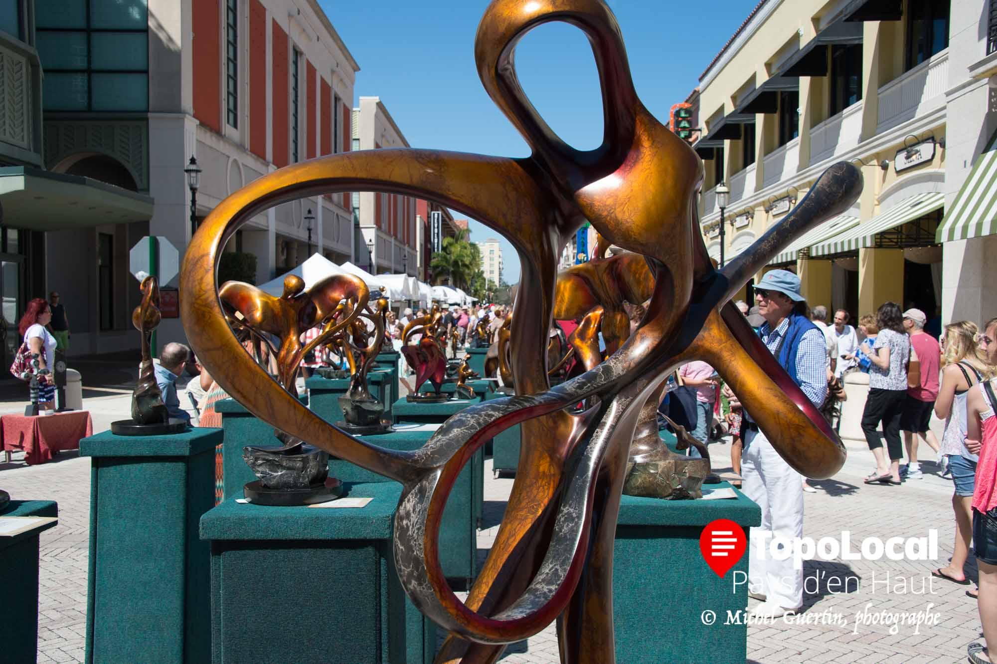L'art était à l'honneur dans les rues de West Palm Beach devenues pietonnières pour l'occasion. Il y en avait pour tous les gpûts et budjets.