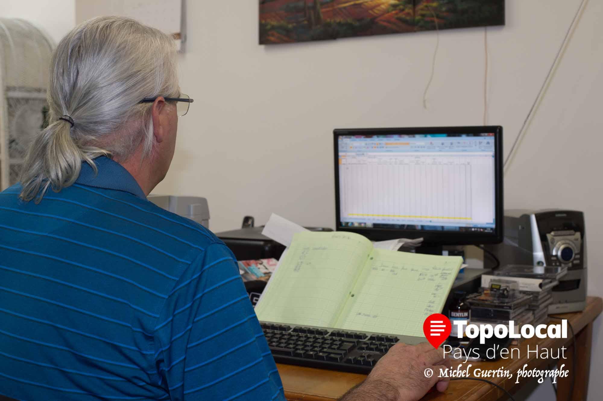 Le seul homme dans la place, Mario Paquette, s'occupe de la comptabilité. Avec toutes ces femmes, il a intérêt à filer doux.