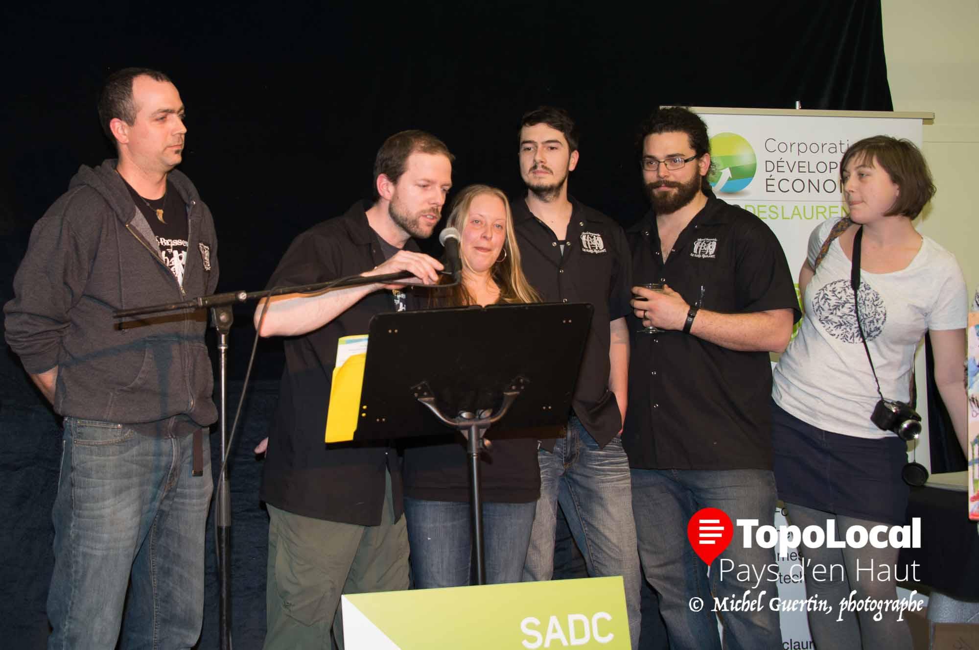 C'est la micro-brasserie Le Baril Roulant de Val-David qui a remporté le prix coup de coeur du jury ainsi que le prix du public.