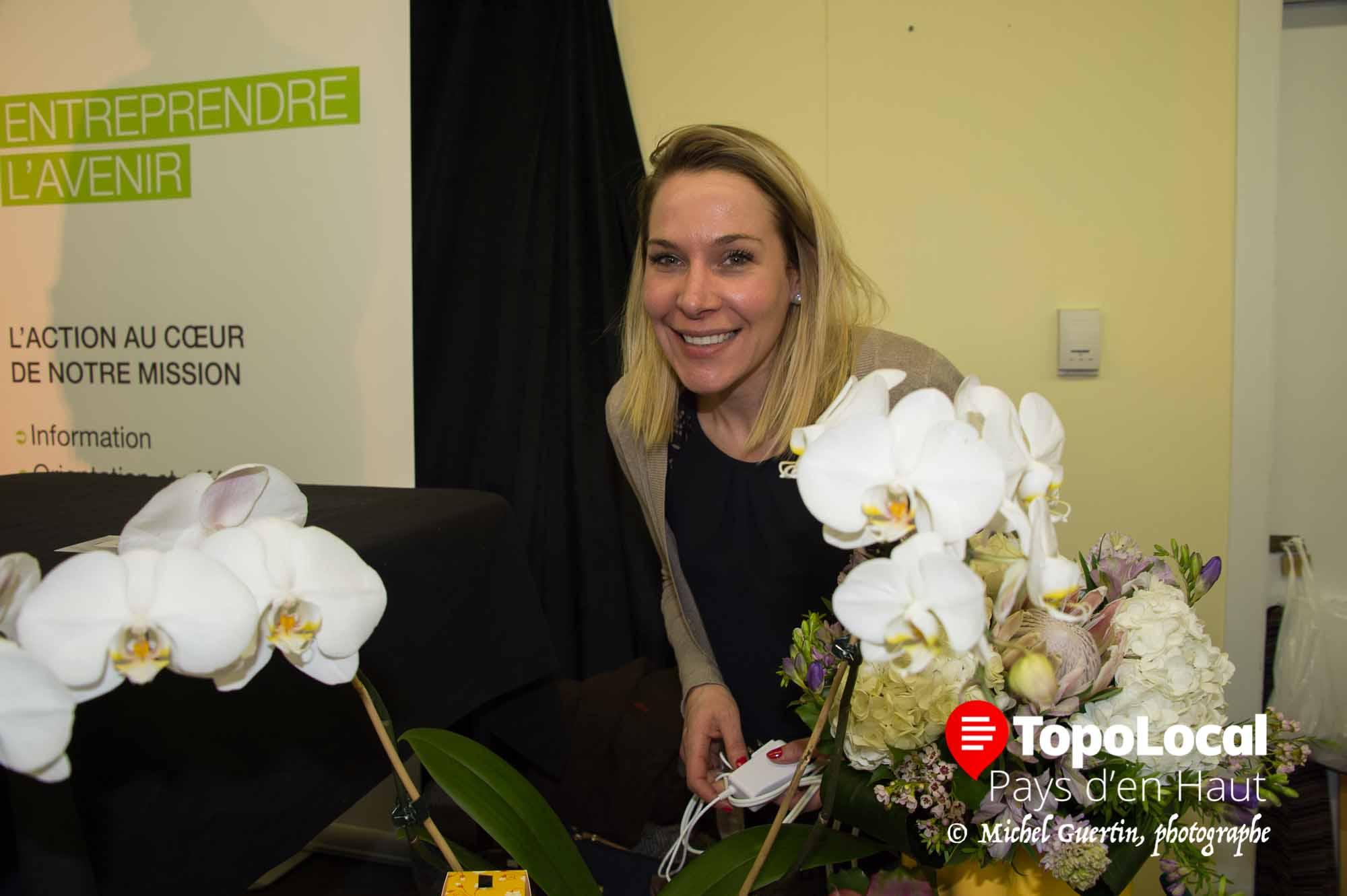 Annie Lord, d'Atelier Floral de Val-David a aussi remporté le prix Coup de coeur du jury.
