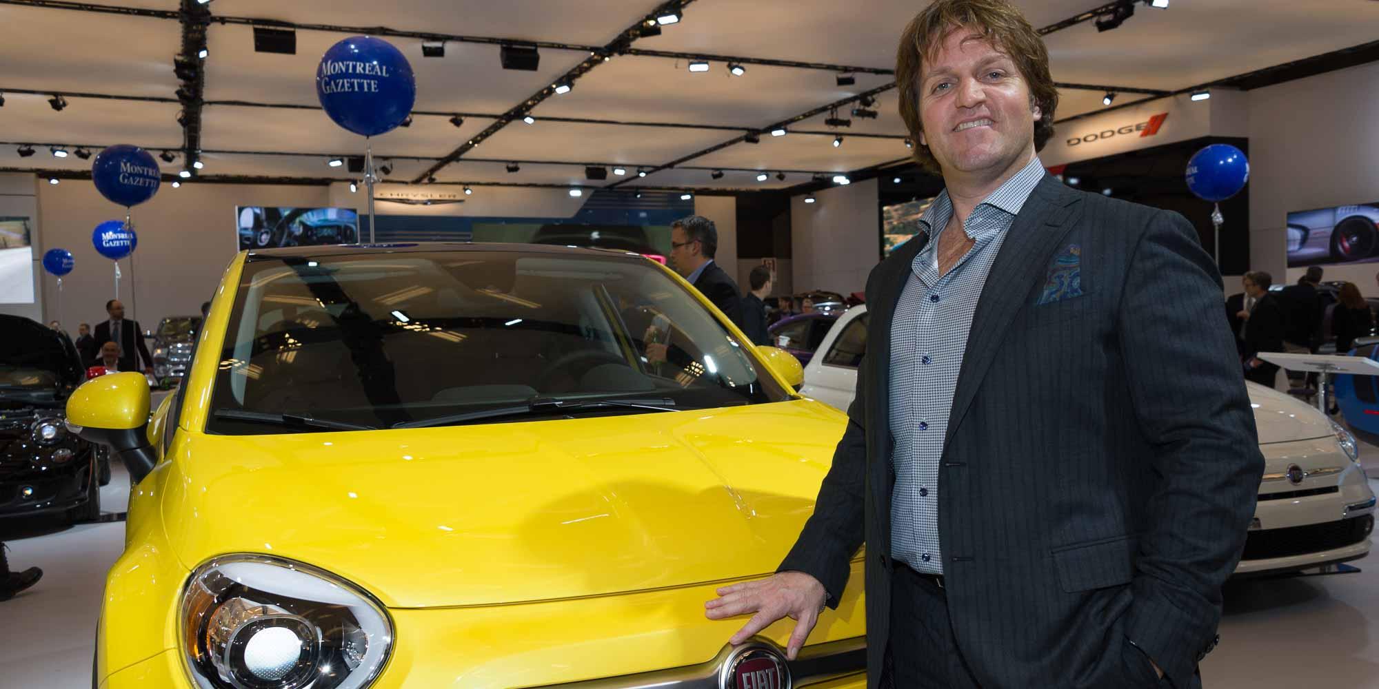 Rencontré au Salon de l'Aauto de Montréal: Sébastien Cloutier, bien connu dans les Laurentides et propriétaire de la concession Chrysler et Fiat de Saint-Jérôme.