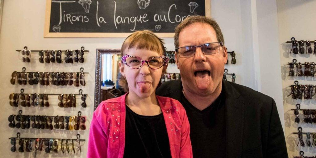 c3cedc7cbed1f Julymaude et Paul Doucet tirent la langue au cancer