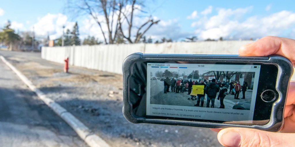 Un peu plus d'un an après la fermeture de la fonderie Mueller, sur la rue Castonguay, le 24 décembre 2015 à Saint-Jérôme.