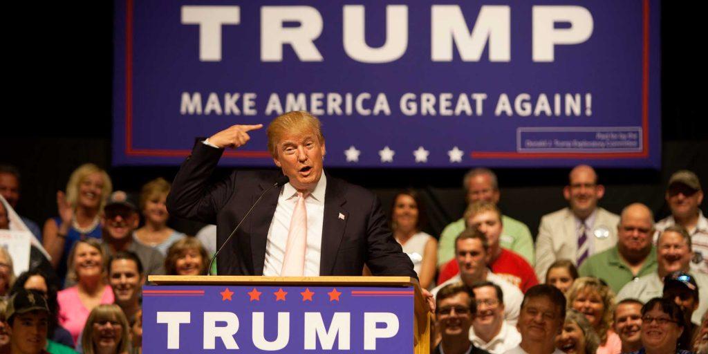Donald Trump, en juillet 2015, au début de la campagne qui l'a mené à la présidence des États-Unis, le 8 novembre 2016. Photo par sgtphoto/Depositphotos.com