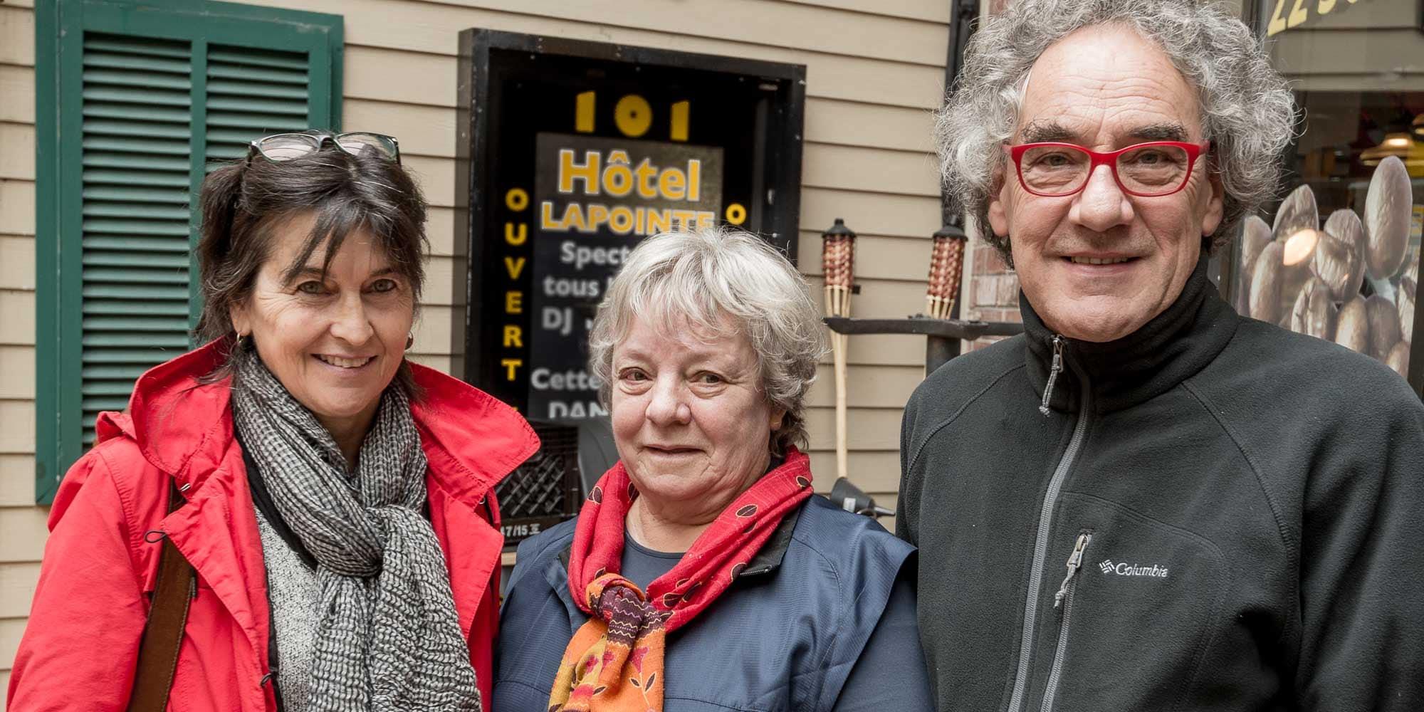 Cristine Rolland, Louise Bariteau et Pierre Dussault forment le Trio Natura.