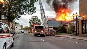 L'édifice qui abritait le restaurant a brûlé en juin 2017.