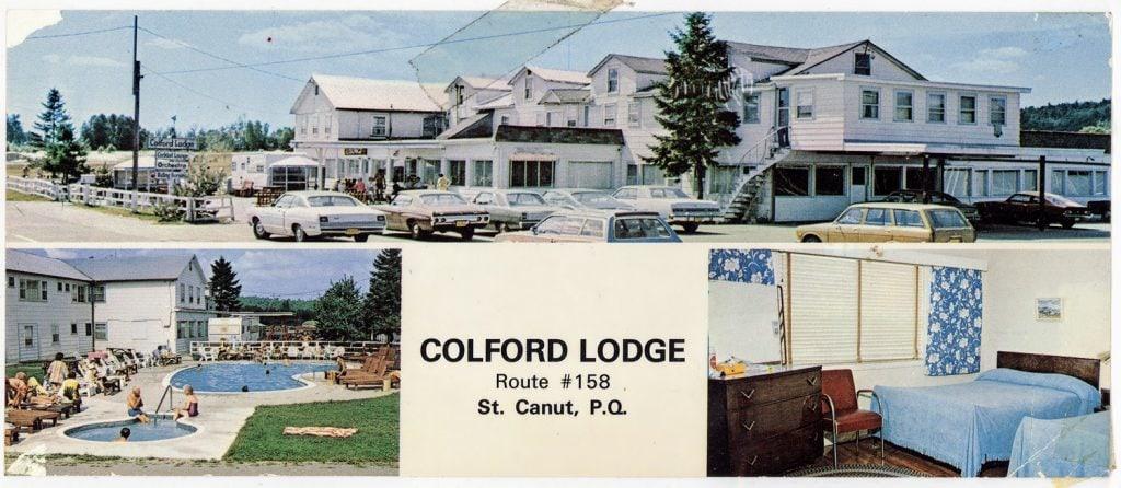 Carte postale du Colford Lodge, à Saint-Canut.