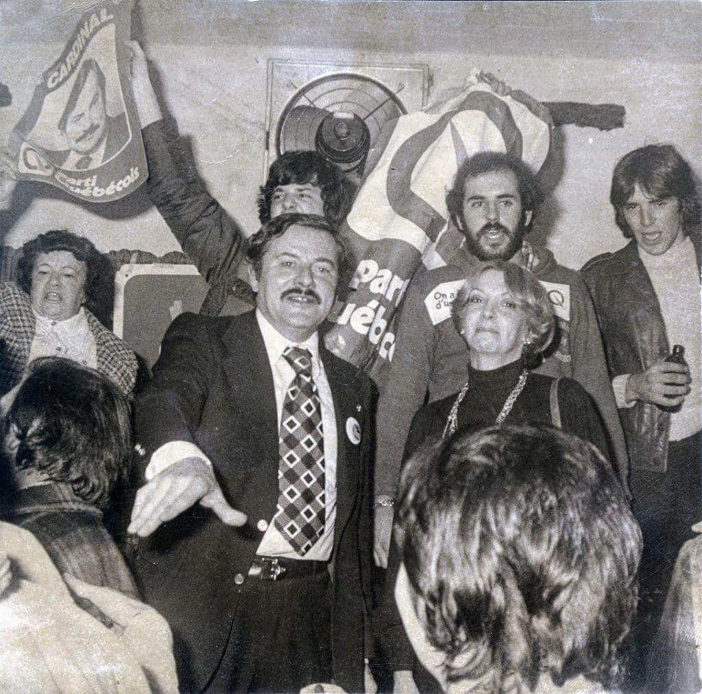 Le député Jean-Guy Cardinal lors de son élection en 1976. Photo Société d'histoire de la Rivière-du-Nord