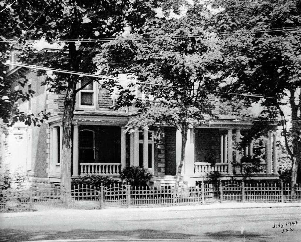 La maison Nantel, devenue la maison funéraire Trudel.