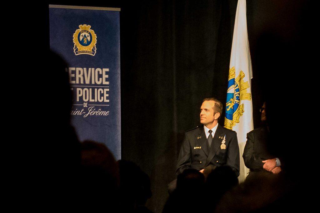 Danny Paterson, directeur du Service de police de la Ville de Saint-Jérôme, lors d'une cérémonie en avril 2016.