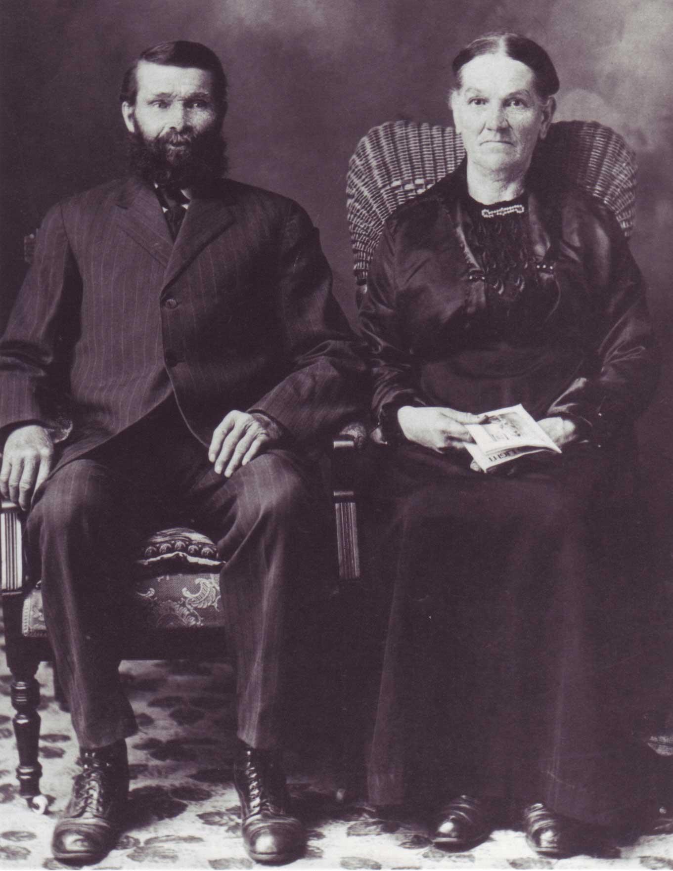 Jean-Baptiste Richer et son épouse Palmire Paquette, les arrière- grands-parents de Gilles Richer.