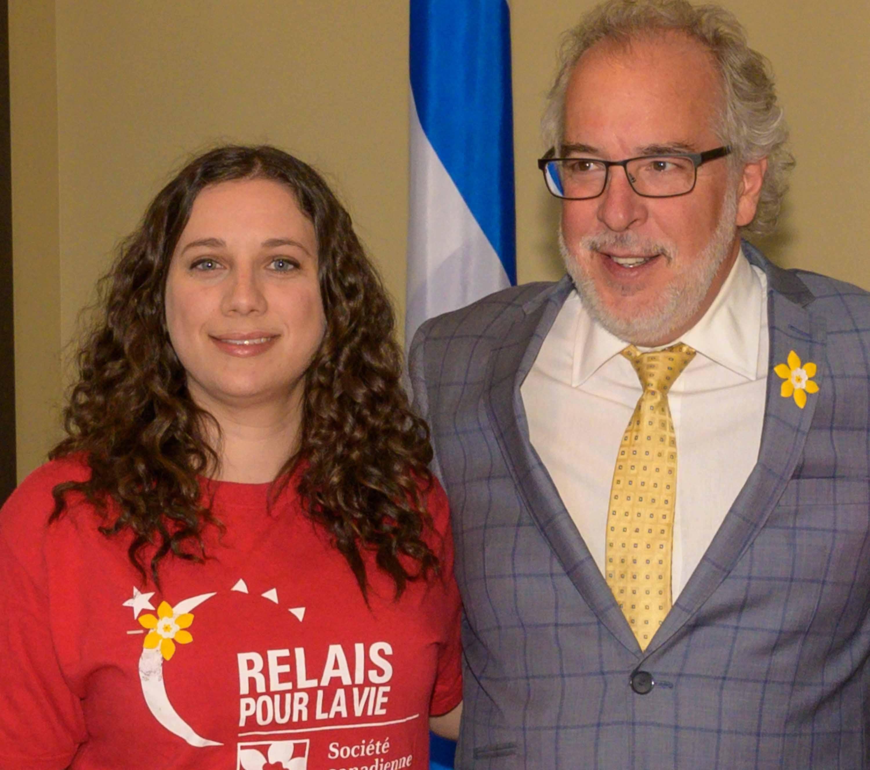 La porte-parole jeunesse Alexandrine Frappier en compagnie du président d'honneur Rhéal Fortin